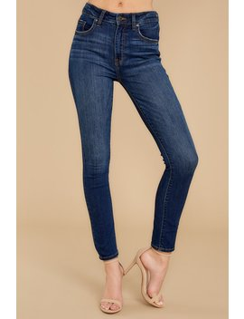 For The Win Dark Wash Skinny Jeans by Eunina