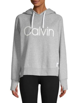 Logo Pullover Hoodie by Calvin Klein Performance