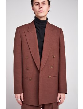 Chocolate Brown Blazer by Jaded London