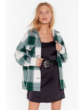 Do It Bigger Check Oversized Jacket by Nasty Gal