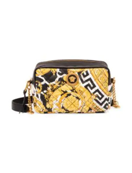 Quilted Leather Camera Bag by Versace