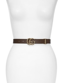 Gg Marmont Leather Belt by Gucci