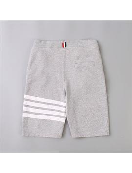 Mens Designer Summer Shorts Pants 18 Ss Thom Beach Three White Stripes Off Men Browne Leisure Pants White For Summer by D Hgate.Com
