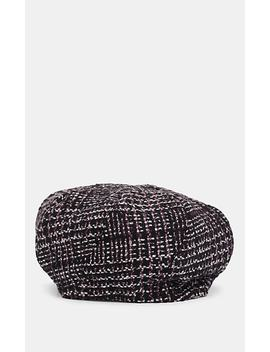 Beret 2 Houndstooth Wool Hat by House Of Lafayette