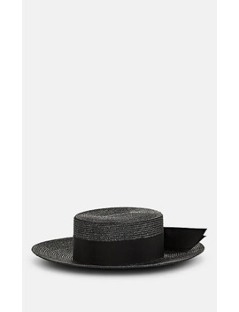 Straw Boater Hat by Saint Laurent