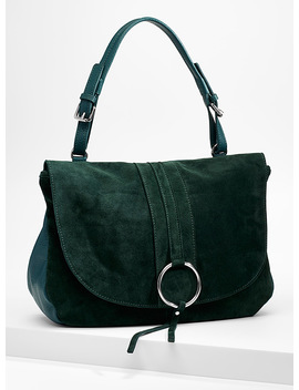Leather And Suede Shoulder Bag by Simons