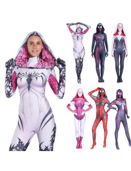 Venom Spiderwomen Costume Gwen Stacy Cosplay Suit Elastic Jumpsuit Womens Newest by Unbranded/Generic