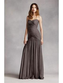 Charcoal Vw360154 Feminine Bridesmaid/Mob Dress by White By Vera Wang