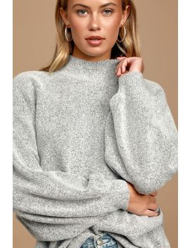Cozy Perfection Grey Dolman Sleeve Sweater Top by Lulus