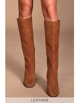 Kasidy Brown Suede Leather Knee High Boots by Dolce Vita