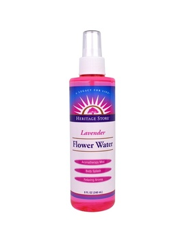 Heritage Store, Flower Water, Lavender, 8 Fl Oz (240 Ml) by Heritage Store