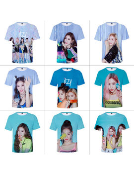 Kpop Itzy 3 D Print T Shirts Unisex Shirts Loose Pullover Short Sleeve Top Tee by Unbranded