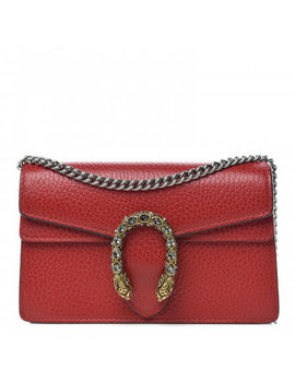 Gucci Calfskin Super Mini Dionysus Bag Hibiscus Red by Gucci