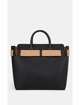 Belted Medium Leather Bag by Burberry