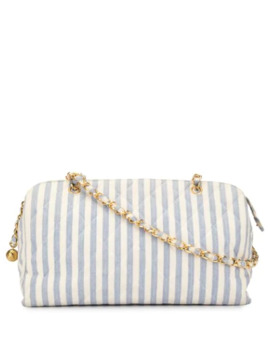 1995's Striped Pattern Chain Bag by Chanel Pre Owned