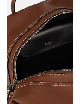 Medium Leather Cube Bowling Bag by Burberry
