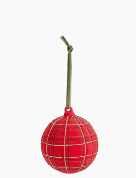 Hand Painted Tartan Bauble With Velvet Flocking by Marks & Spencer
