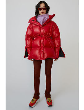 Quilted Down Jacket Dark Red by Acne Studios