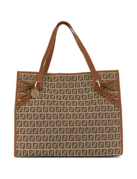 Zucchino Logos Tote by Fendi Pre Owned