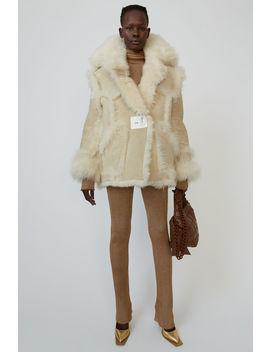 Oversized Fur Jacket Cream/Off White by Acne Studios