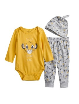 Disney's The Lion King Simba Baby Boy Bodysuit, Pants &Amp; Hat Set By Jumping Beans® by Disney's The Lion King Simba Baby Boy Bodysuit, Pants &Amp; Hat Set By Jumping Beans