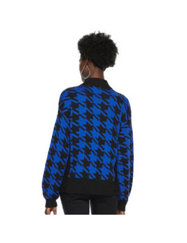 Petite Nine West Houndstooth Sweater by Nine West