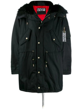 Logo Patch Parka by Versace Jeans Couture