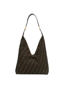 Zucca Print Shoulder Bag by Fendi Pre Owned