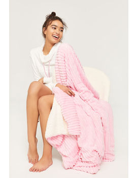 Soft Blanket With Faux Sherpa by Ardene