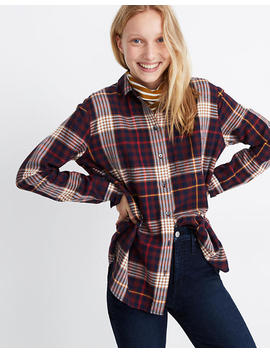 Oversized Ex Boyfriend Shirt In Rylan Plaid by Madewell