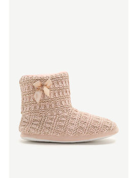 Metallic Boot Slippers With Faux Gem by Ardene
