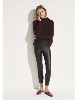 Leather Stitch Front Legging by Vince