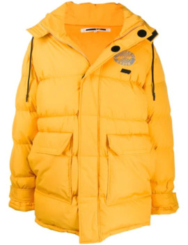 Oversized Logo Patch Padded Coat by Mc Q Alexander Mc Queen