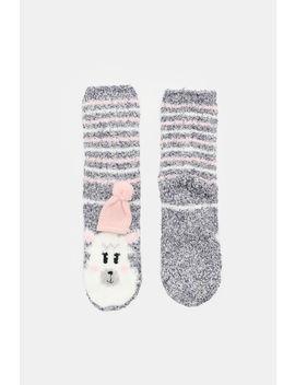 Llama Cozy Socks by Ardene