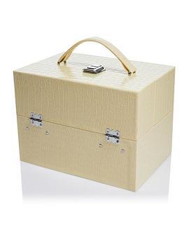 Colleen's Prestige™ Croco Embossed Travel Train Case by Colleen's Prestige Jewelry Boxes