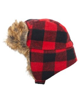 Indigo Baby Baby Trapper Hat Buffalo Plaid Black And Red 0 To 6 Months by Indigo Baby