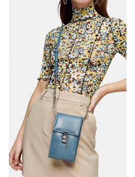 Catch Blue Cross Body Bag by Topshop