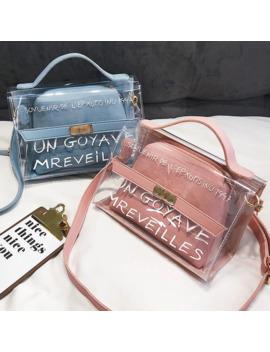 2019 Transparent Bag Brand Women Pvc Fashion Clear Bag Women Handbags Bolsa Feminina Shoulder Bag Crossbody Bag Bolsa by Ali Express.Com
