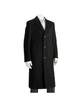Men's Jean Paul Germain Classic Fit Sander 45 In. Wool Blend Top Coat by Jean Paul Germain