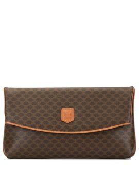 Macadam Pattern Clutch Bag by Céline Pre Owned