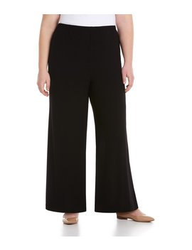 Plus Wide Leg Pants by Ic Collection