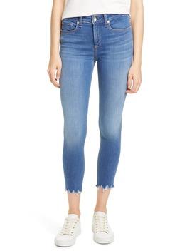 Cate Chewed Hem Crop Skinny Jeans by Rag & Bone