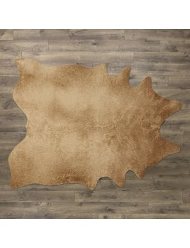 Cyrus Faux Cowhide Tan Area Rug by Mercury Row