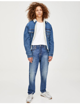 Regular Fit Ripped Jeans With Chain by Pull & Bear