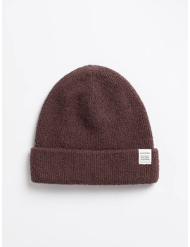 Knitted Beanie In Wine by Frank & Oak