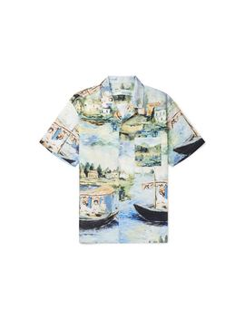 Off White Camp Collar Lake Print Shirt Multicolor by Stock X