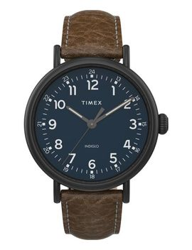 Timex® Standard Xl 43mm Leather Strap Watch by Timex