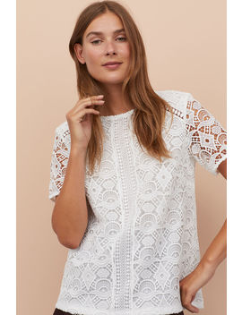 Short Sleeved Lace Top by H&M