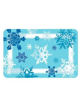 The Softer Side By Weather Guard™ Snowflakes Kitchen Mat by Bed Bath And Beyond