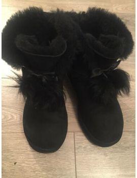 Black Ugg Bow Boots Size Uk 7.5 by Ebay Seller